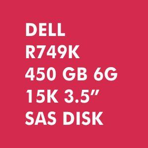 DELL R749K 450-GB 6G 15K 3.5 SAS
